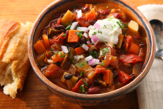 Veggies, beans, and spices – this hearty vegetarian chili from CHOW ...