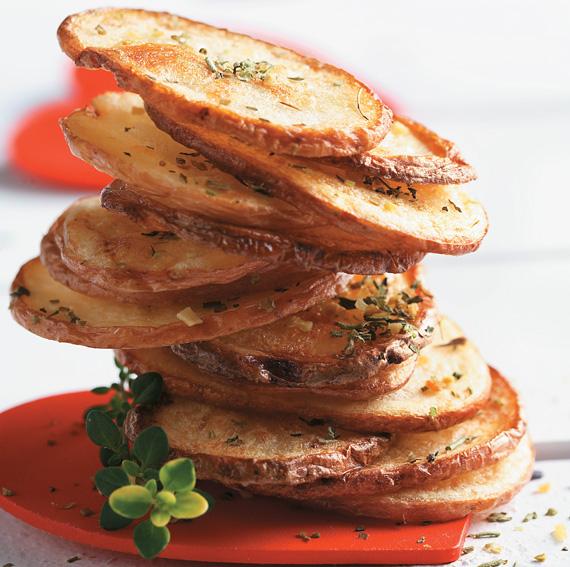 Oven-Fried Potato Chips - CanolaInfo