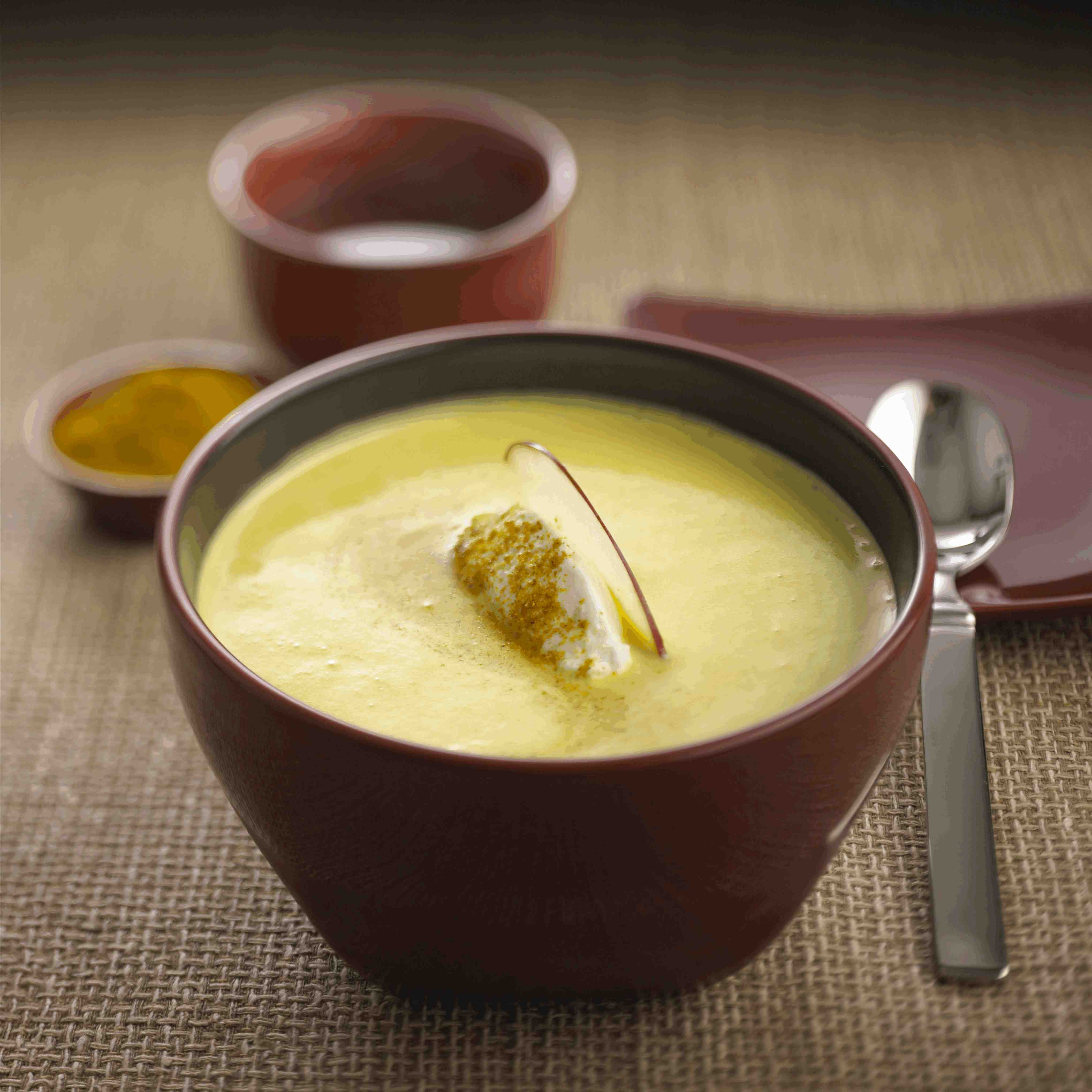 Curried Apple Soup with Chavrie® Goat Cheese