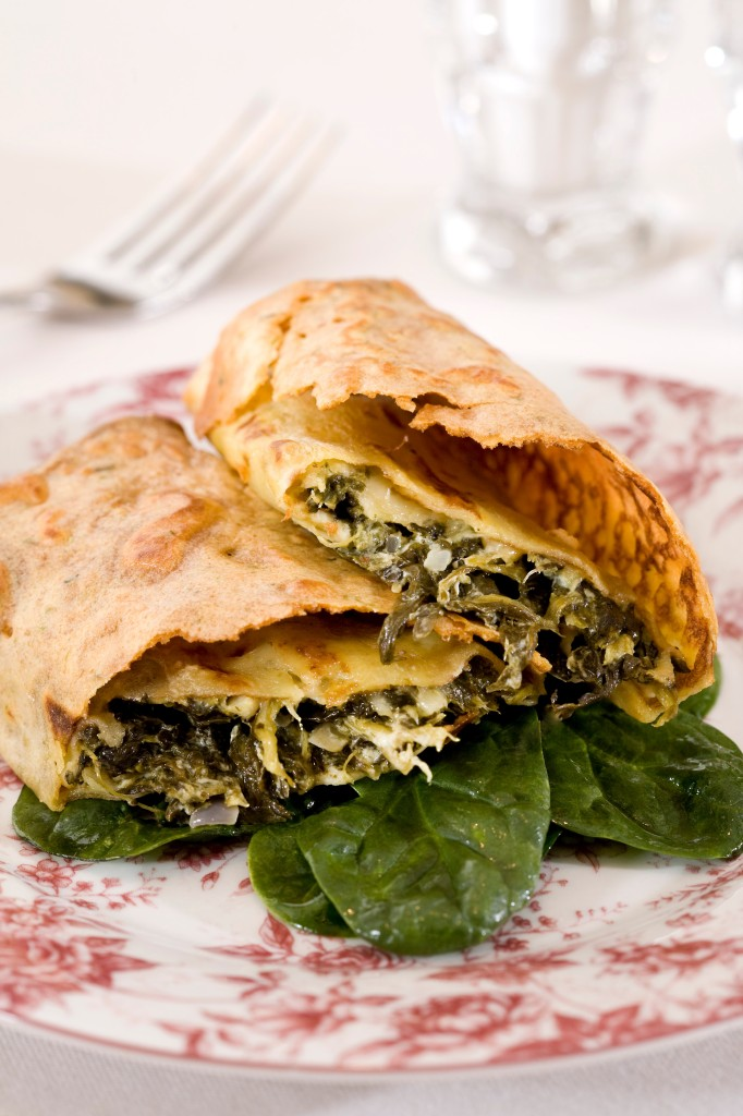 Creamy Spinach Crepes