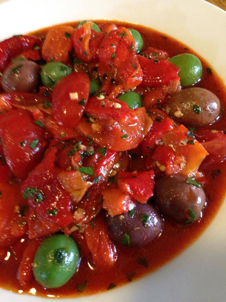 Roasted Pepper & Olive Salad