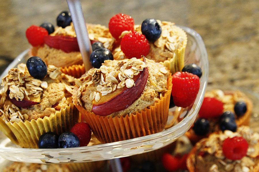 plum-ricotta-muffins