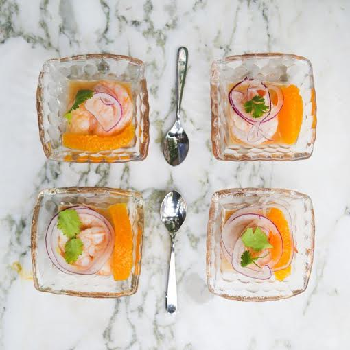 Orange and Shrimp Ceviche