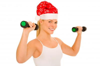 woman with weights - holidays