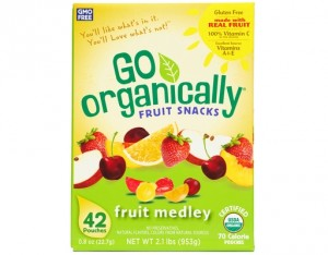 Go Organically Fruit Snacks Fruit Medley 1