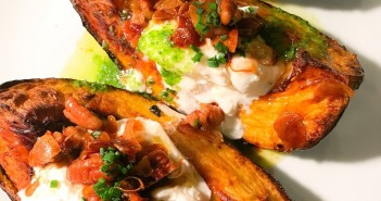 Acorn Squash with Mexican Burrata